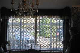 large concertina window shutters