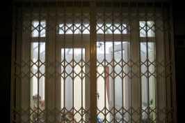 concertina security door over french doors