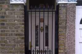 ornate metal security door