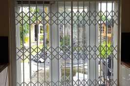 patio door lattice shutters