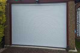 white single roller garage door