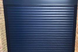 dark roller garage door