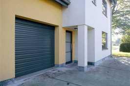 roller garage door on residential building
