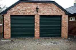 two single roller garage doors