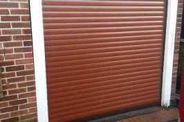 small brown roller garage door