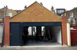 garage door with matching side door