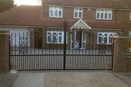 ornate electric driveway gate