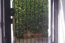 alley key pad gate
