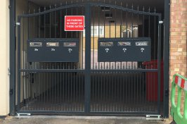 electric gates with post boxes