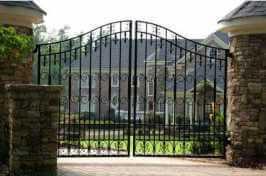 large ornate driveway gate