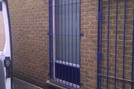 security bars over commercial window