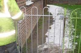 spray painting existing garden gate