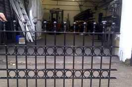freshly made garden railings