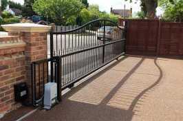 long electric driveway gate