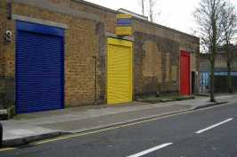 large security shutters for commercial building