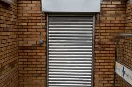 button operated roller shutters